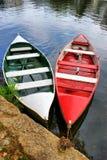 Barcos de río en Amarante Imagen de archivo libre de regalías