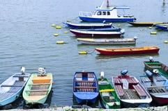 Barcos de río en Danubio Foto de archivo libre de regalías