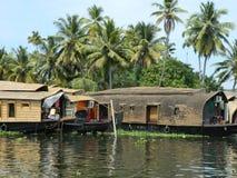Barcos de río en la India meridional Fotos de archivo libres de regalías