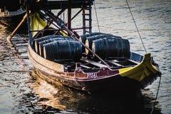 Barcos de Rabelo, barcos del vino de Oporto en Rio Douro, imagen de archivo libre de regalías