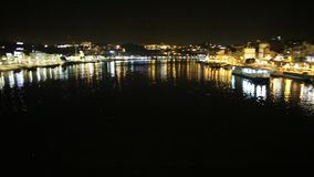 Barcos de Rabelo por noche almacen de video