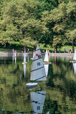 Barcos de RC no lago Fotografia de Stock Royalty Free