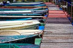 Barcos de rio Imagens de Stock Royalty Free