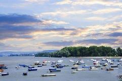 Barcos de rio em Danúbio Imagem de Stock Royalty Free