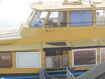 Barcos de rio nos detalhes e nos elementos imagens de stock royalty free