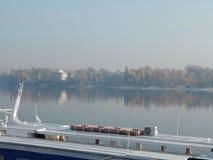 Barcos de rio nos detalhes e nos elementos fotografia de stock