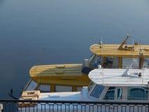 Barcos de rio nos detalhes e nos elementos imagem de stock