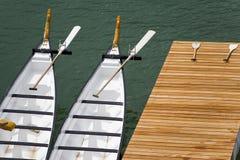 Barcos de Rowing del dragón Imágenes de archivo libres de regalías