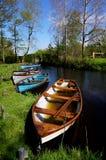 Barcos de rowing en Killarney foto de archivo libre de regalías