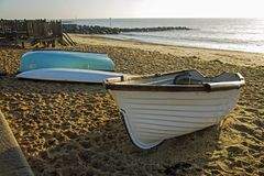 Barcos de rowing en la orilla en Ipswich Foto de archivo libre de regalías