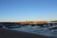 Barcos de St Ives imágenes de archivo libres de regalías