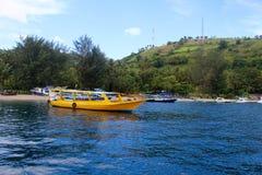 Barcos de Tradicional Indonesia en Gili Island Fotografía de archivo libre de regalías