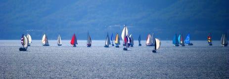 Barcos de vela Foto de archivo libre de regalías