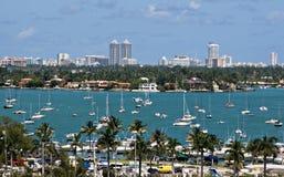 Barcos de vela de Miami Foto de archivo libre de regalías