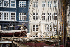 Barcos de vela em Copenhaga Foto de Stock Royalty Free