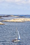 Barcos de vela en el archipiélago Imagen de archivo