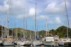 Barcos de vela en el Caribe fotos de archivo libres de regalías