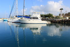 Barcos de vela en el Caribe imagen de archivo
