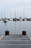Barcos de vela en el lago Michigan Imágenes de archivo libres de regalías