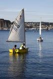 Barcos de vela en el lago union Imagenes de archivo
