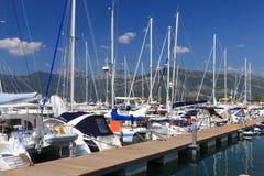 Barcos de vela en el muelle Fotografía de archivo libre de regalías