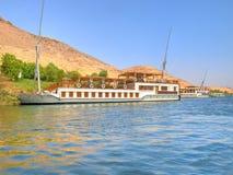 Barcos de vela en el río del Nilo Fotografía de archivo