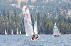 Barcos de vela en la alta sierra Regatta Imagen de archivo libre de regalías
