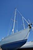 Barcos de vela en un astillero Foto de archivo