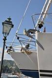 Barcos de vela en un astillero Imágenes de archivo libres de regalías