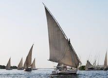 Barcos de vela no Nile River em Egito fotos de stock royalty free