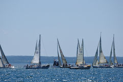 Barcos de vela que navegan en un día de verano Imágenes de archivo libres de regalías
