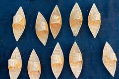 Barcos de vime, artesanatos indianos justos em Kolkata Imagens de Stock