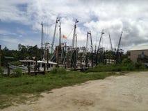 Barcos del camarón de McClellanville Fotografía de archivo libre de regalías