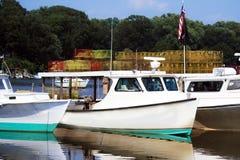 Barcos del cangrejo fotografía de archivo