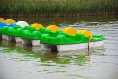 Barcos del catamarán para el alquiler Imagen de archivo libre de regalías