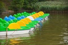 Barcos del catamarán para el alquiler Imagen de archivo