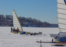 Barcos del HIELO en el lago Imagen de archivo