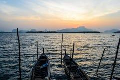 Barcos del longtail de Tailandia Imagen de archivo libre de regalías