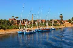 Barcos del Nilo Imágenes de archivo libres de regalías