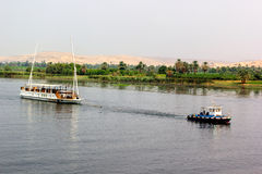 Barcos del Nilo Fotografía de archivo libre de regalías