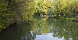 Barcos del pedal para los turistas Fotografía de archivo libre de regalías