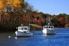 Barcos del puerto de Kennebunkport Fotografía de archivo libre de regalías