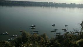 Barcos del río Danubio Fotografía de archivo