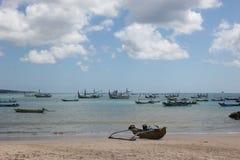 Barcos del ` s de los pescadores en Bali Imagenes de archivo