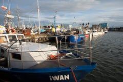 Barcos del ` s del pescador en el puerto de awowo del 'del adysÅ del 'de WÅ Imágenes de archivo libres de regalías