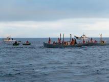 Barcos del sus di Varios grupos de pescadores en immagini stock libere da diritti