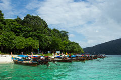 Barcos del taxi en Tailandia Imagenes de archivo
