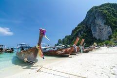 Barcos del viaje en Tailandia Fotografía de archivo libre de regalías
