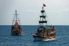 Barcos del viaje en Turquía Fotografía de archivo libre de regalías