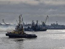 Barcos do Armada militares Fotografia de Stock Royalty Free